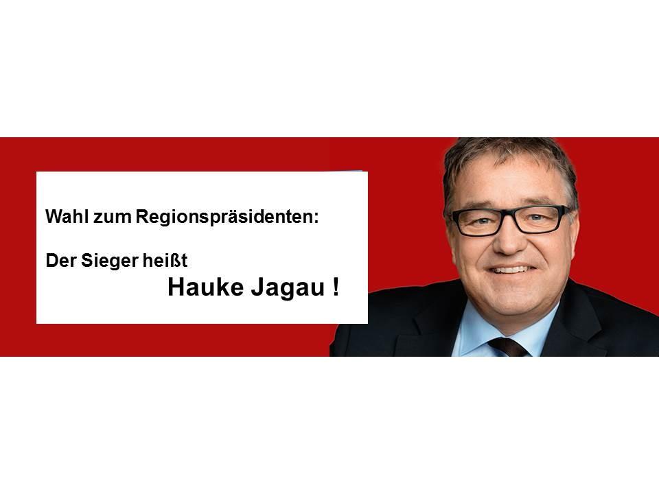 Wahlbanner Sieger nach Stichwahl Hause Jagau