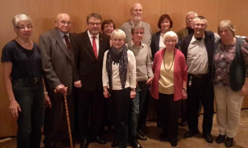 Die Jubilare des SPD-Ortsvereins für 2015